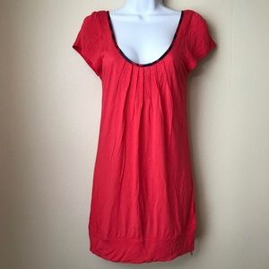 Ted Baker London Top Cap Sleeve Red Size 2